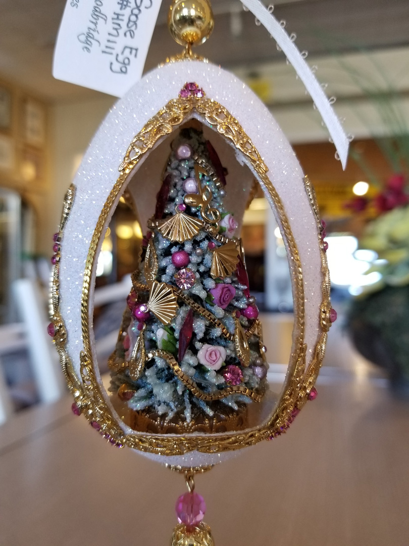 Christmas Tree Goose Egg Ornament | Simple Finds