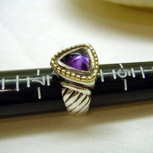 John Gocke Original Signed Amethyst Ring